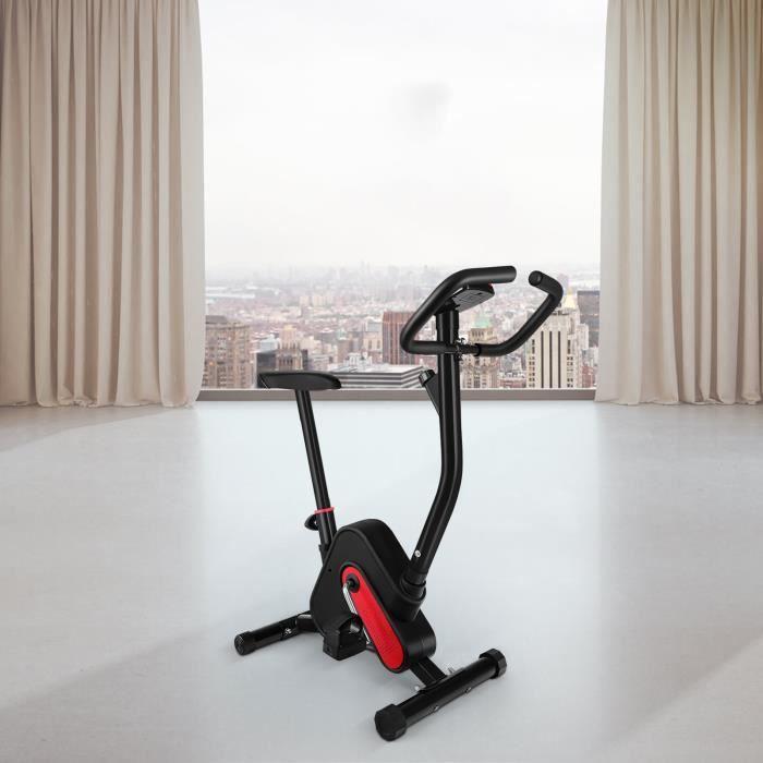 BESPORTBLE Vélo d'exercice pliant professionnel (Rouge Noir)
