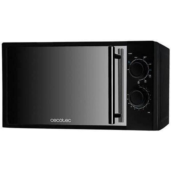 Cecotec Micro-ondes avec Grill All Black avec Gril. Capacité de 20 L, 700 W de Puissance, gril de 900 W, 9 Niveaux de Fonctionnement