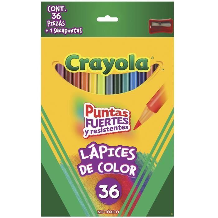 Jeu De Coloriage CRAYOLA Couleur long Crayons pré-affûtés (idéal pour les adultes Coloring) - 36 Ea FI9QU