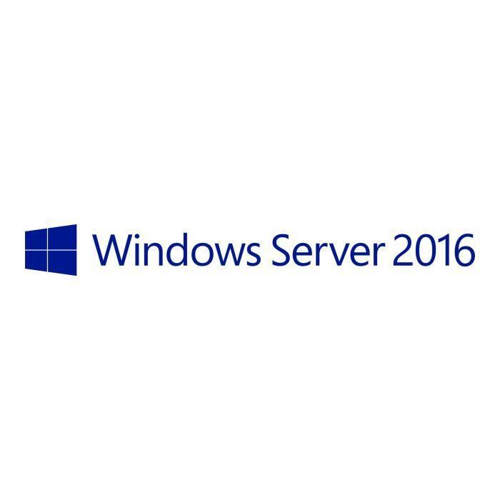 Microsoft Windows Server 2016 Standard - Licence - 2 coeurs supplémentaires - OEM - APOS, aucune installation de support