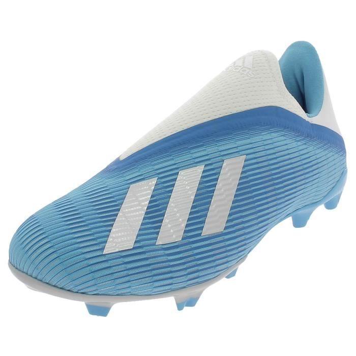 ADIDAS X 19.3 LL FG CHAUSSURES DE FOOTBALL PUOR HOMME BLEU CLAIR EF0598
