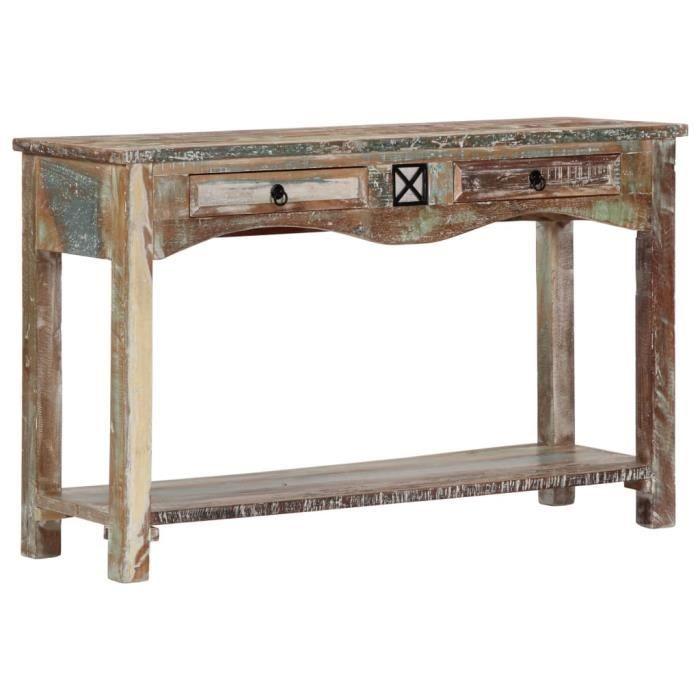 Table console Table d'Appoint style contemporain 120x40x75 cm Bois solide de récupération