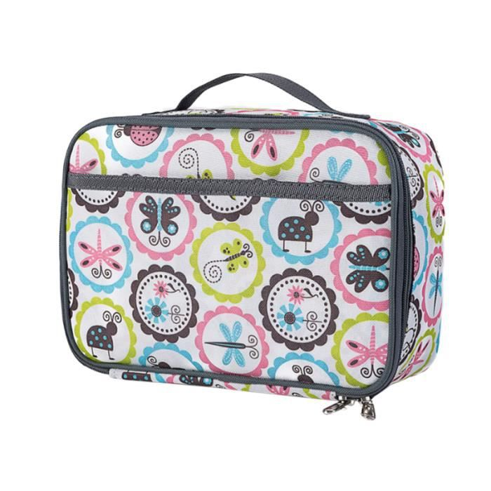 1 PC sac à lunch Oxford tissu carré coloré dessin animé réfrigérateur Thermo GLACIERE - SAC ISOTHERME - ACCUMULATEUR DE FROID
