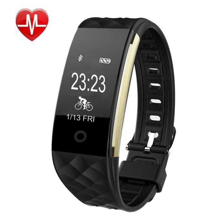 Smart Watch Bracelet Fitness Tracker sommeil de suivi des activités Smartwatch Call & Rappel de message Répondre à un appel