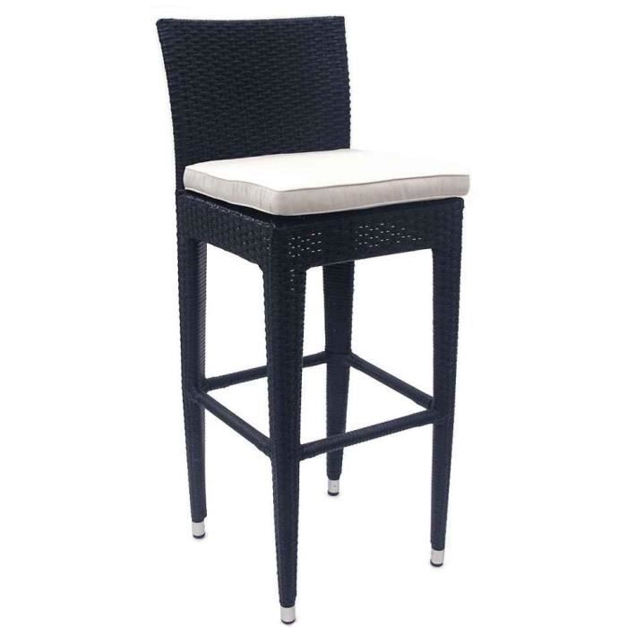 tabouret de bar ext rieur en polyr sine et alum achat vente chaise fauteuil jardin. Black Bedroom Furniture Sets. Home Design Ideas