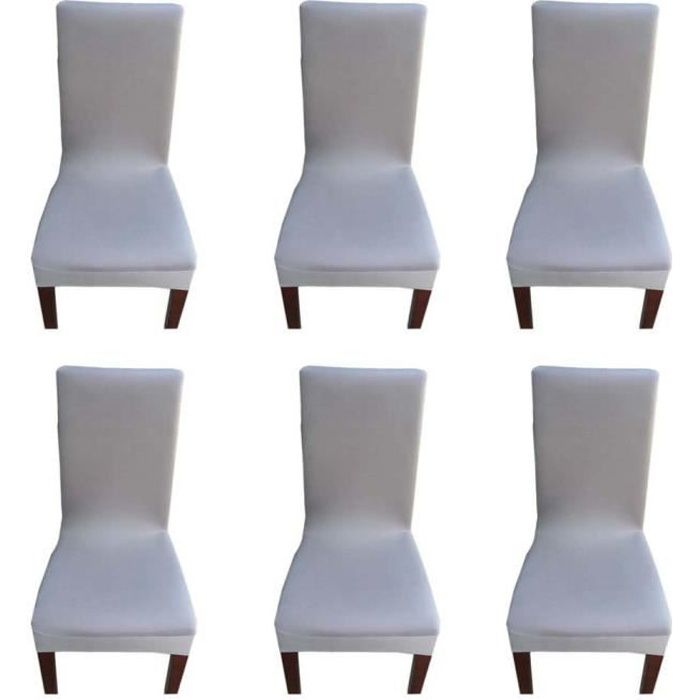Housse de Chaise Extensible - 6 Pcs Couverture de Chaise pour ... on