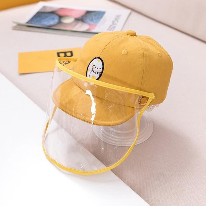 Sykooria Chapeau de P/êcheur de Protection Enfant Anti UV Anti-Poussi/ère avec Visi/ère Transparente Non Amovible