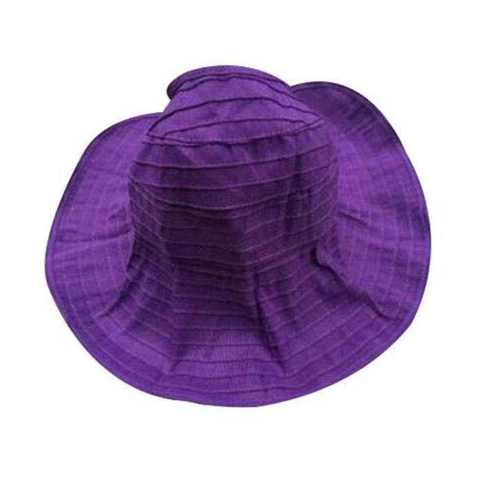 Boucle de lunette de soleil pour femme Fashion Summer Beach Cap Sun Hat For Travel Purple