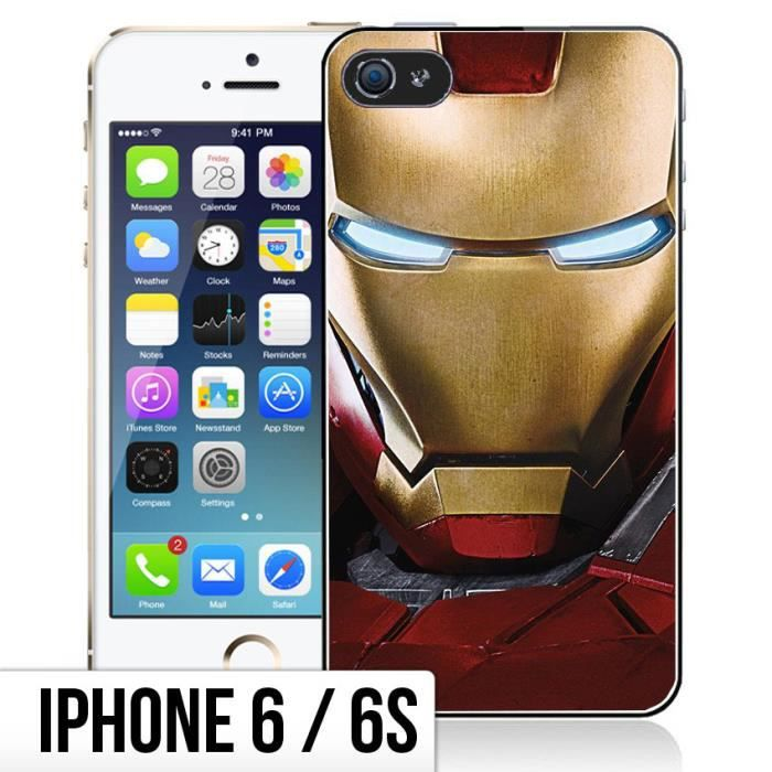 iphone 6 coque silicone iron man