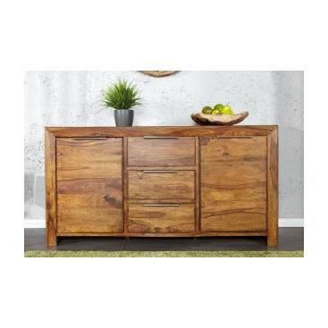 meuble buffet bahut design en bois massif lena achat. Black Bedroom Furniture Sets. Home Design Ideas