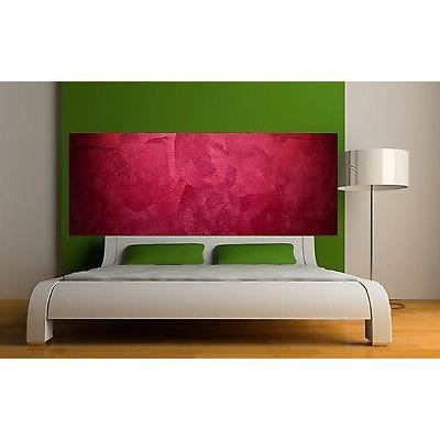 Sticker t te de lit d coration murale couleur rouge r f for Tete de lit murale