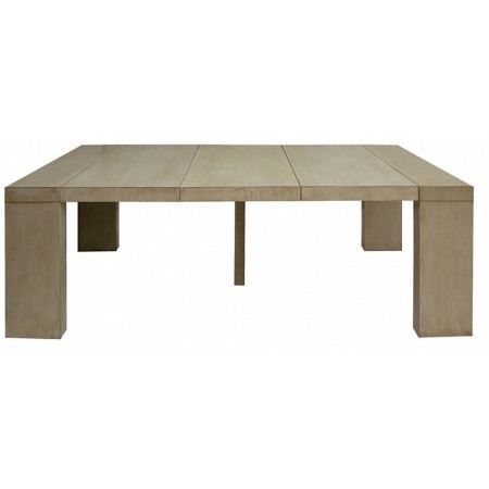 Table console extensible taupe clair 3 rallonges achat - Table console extensible pied central ...