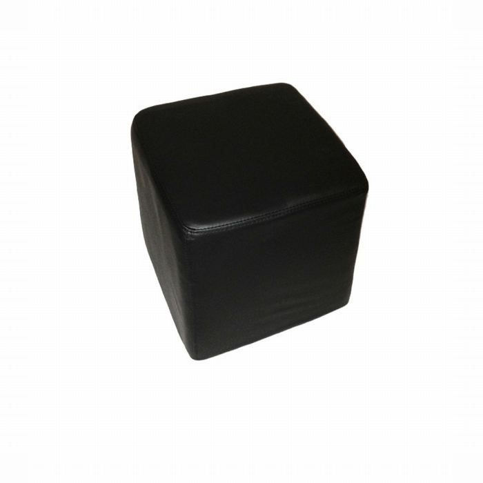 pouf fa on cuir noir achat vente pouf poire pu. Black Bedroom Furniture Sets. Home Design Ideas