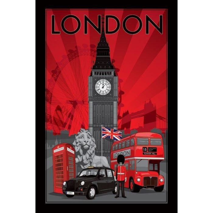 poster londres achat vente poster londres pas cher. Black Bedroom Furniture Sets. Home Design Ideas