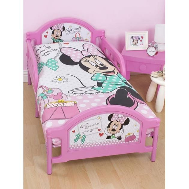 Accueil linge de lit fille drap housse imprim minnie bed mattress sale for Parure de lit fille