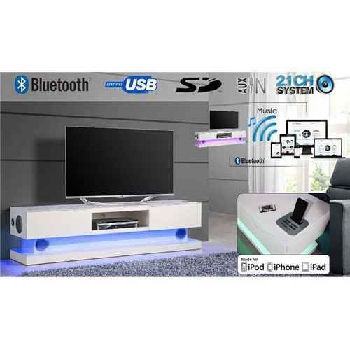 meuble tv connect flair led bluetooth sur achat vente meuble tv meuble tv connect. Black Bedroom Furniture Sets. Home Design Ideas