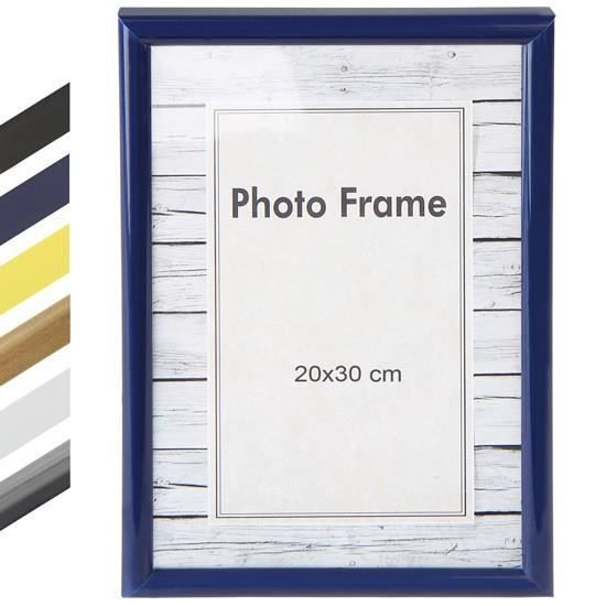 cadre photo 20 x 30 cm en 6 coloris noir achat vente cadre photo cdiscount. Black Bedroom Furniture Sets. Home Design Ideas
