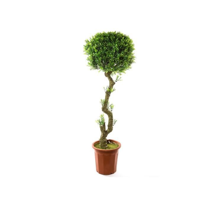 arbre en buis artificiel pot hauteur 145 cm achat vente fleur artificielle cdiscount. Black Bedroom Furniture Sets. Home Design Ideas