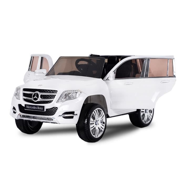 voiture lectrique pour enfant 4x4 mercedes benz glk 300 blanc achat vente voiture enfant. Black Bedroom Furniture Sets. Home Design Ideas