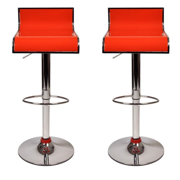 tabourets de bar orange design waves lot de 2 achat. Black Bedroom Furniture Sets. Home Design Ideas