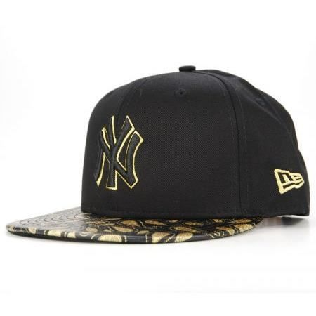 New era snapback new york yankees noir gold paisley casquette 9fifty