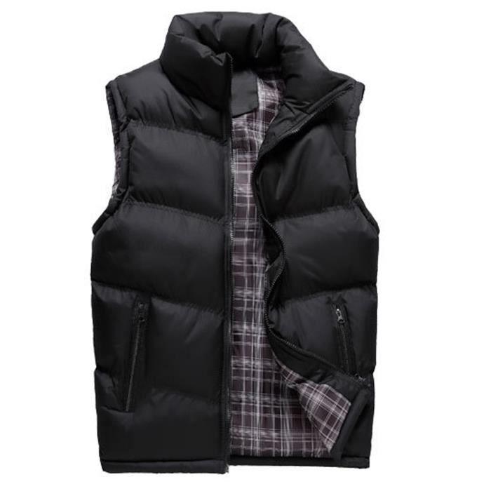 automne manche montant Doudoune nouveau Gilet col homme vêtement sans multicolore hiver chaud ED29IYWH