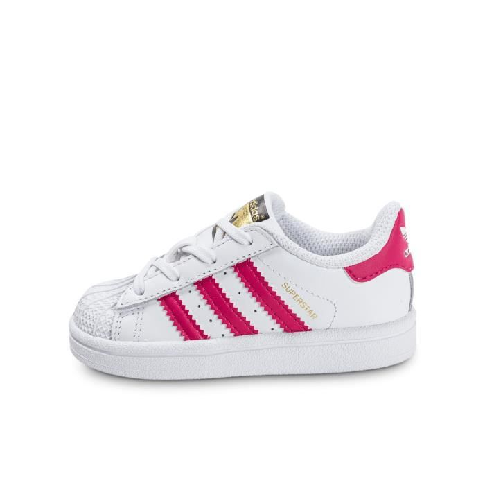 27960c04e5032 Adidas superstar fille blanc rose blanche   rose - Achat   Vente ...