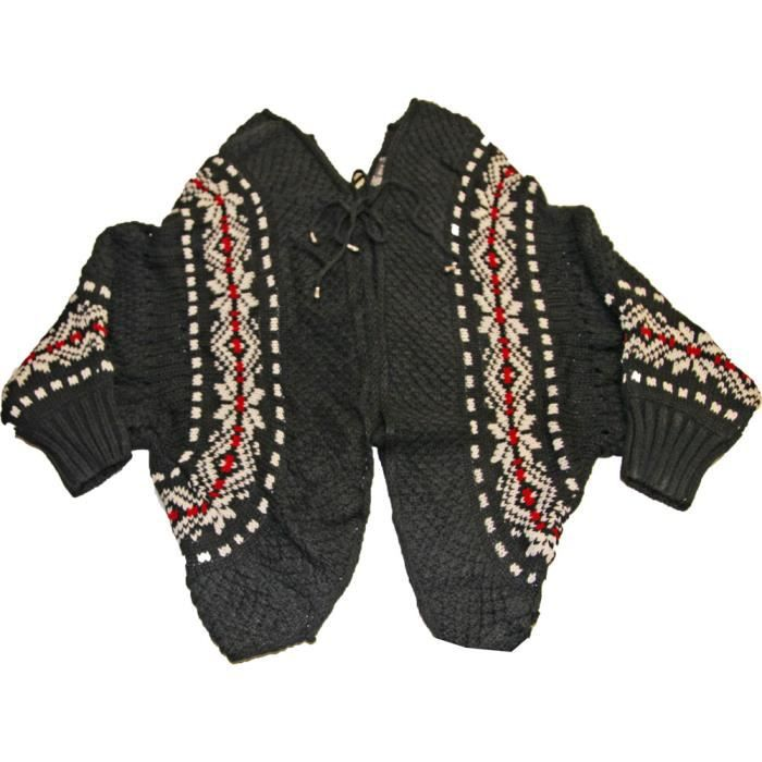 GILET - CARDIGAN Gilet femme style poncho cape  30%Laine !