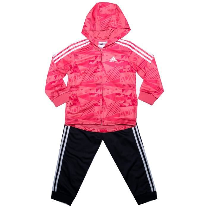 adidas performance Survêtement Shiny Hoody Rose Fille