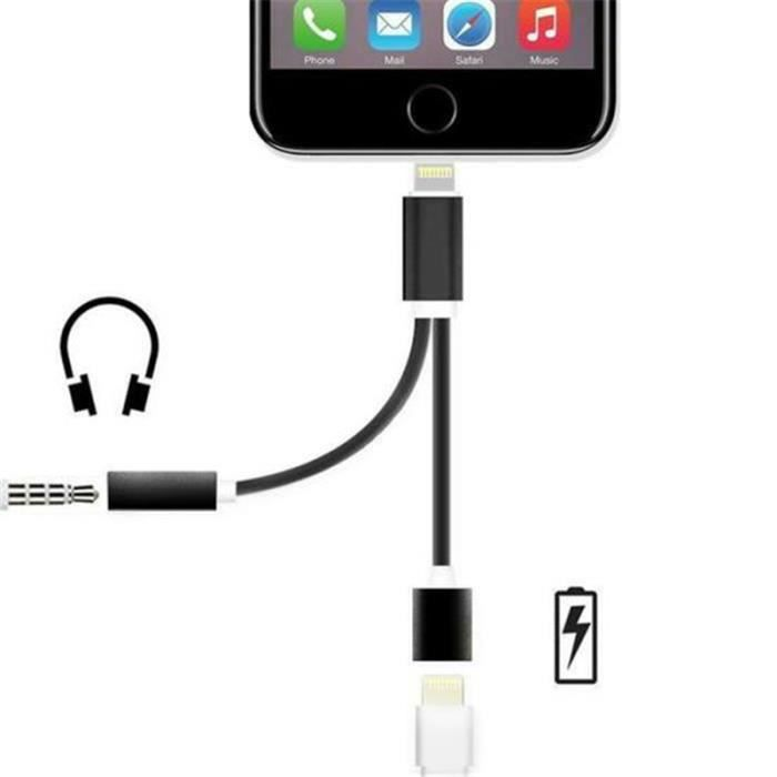 adaptateur ecouteur iphone 7 achat vente adaptateur ecouteur iphone 7 pas cher cdiscount. Black Bedroom Furniture Sets. Home Design Ideas