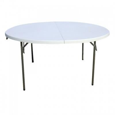 Table pliante d appoint ronde diametre 160x72 cm achat for Table exterieur pliante