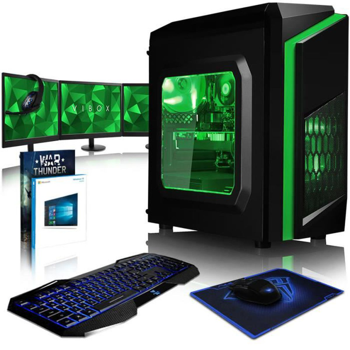 vibox killstreak glr7tx 214 pack pc gamer amd ryzen 8. Black Bedroom Furniture Sets. Home Design Ideas