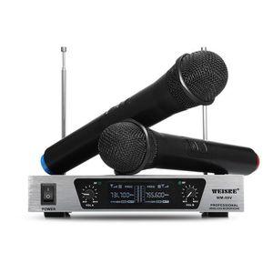 HAUT-PARLEUR - MICRO WEISRE WM-Système de microphone sans fil VHF 09V