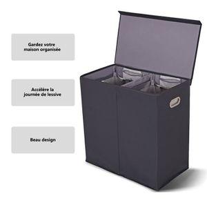 PANIER A LINGE Panier à Linge 2 Compartiments-Séparation Sèche et