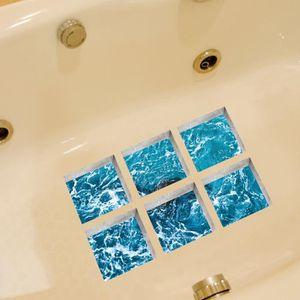 5pcs baignoire antidérapant Sécurité Marches Autocollant Salle De Bain Applique Decal étoile de mer