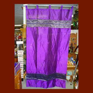 RIDEAU Rideaux taffetas double brocard violet