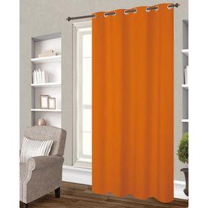 RIDEAU Rideau occultant orange  140x260 cm