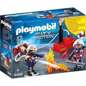 UNIVERS MINIATURE PLAYMOBIL 9468 - City Action - Pompiers avec matér