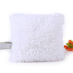 OREILLER Blanc - 45 * 45cm doux fourrure moelleux canapé or