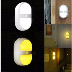 AMPOULE - LED LED Veilleuse PIR Capteur Batterie Mur Mouvement S