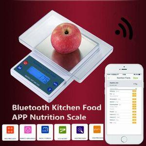 PÈSE-PERSONNE 5KG-1G Balance Cuisine Bluetooth Digital LCD Nutri