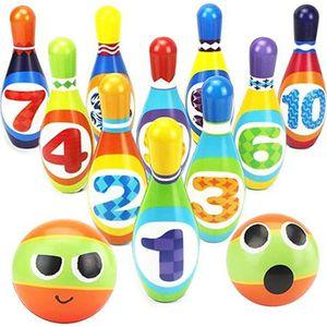 JEU DE QUILLE Jeux de Quilles 10 quilles et 2 Boules de Bowling
