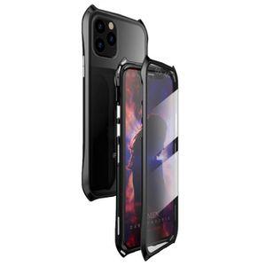 Coque Apple iPhone 11 Pro Max360° Double face Verre trempé HousseTechnologie d'adsorption Magnétique Métal Bumper Frame Etui