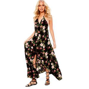 ROBE Nouvelles robes maxi sexy florales decontractees a
