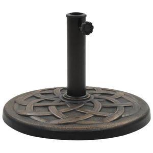 DALLE - PIED DE PARASOL Socle rond de parasol Polyrésine 19 kg Bronze