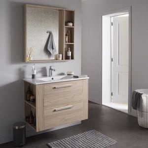 LAVABO - VASQUE Ensemble meuble de salle de bain 80 cm + miroir co