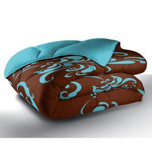 COUETTE Couette Imprimée LILY BLUE 100% Polyester 220x240c
