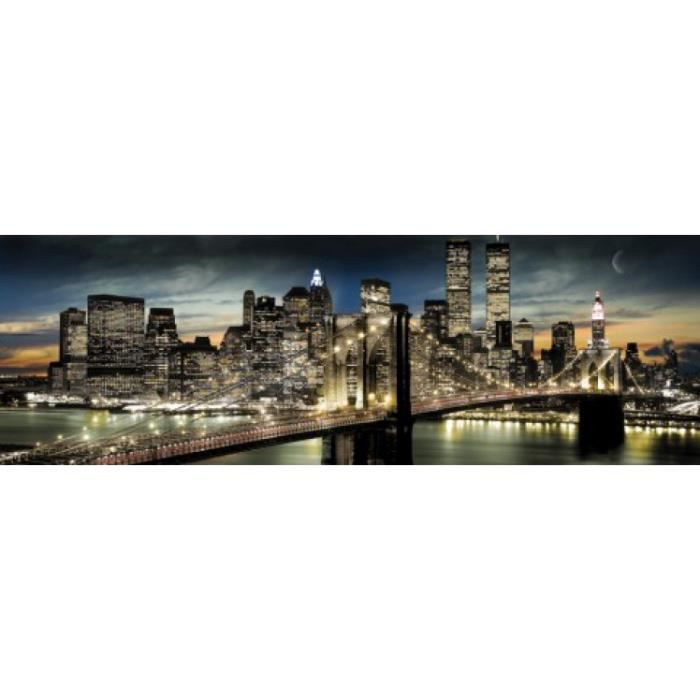 New york poster de porte manhattan clair de achat for Decoration porte new york