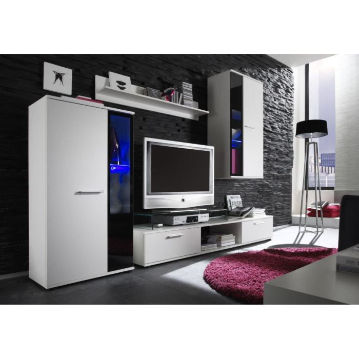 ensemble meuble tv paula 240cm avec led achat vente meuble tv ensemble meuble tv paula 24. Black Bedroom Furniture Sets. Home Design Ideas