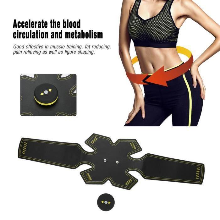 Stimulateur de muscle abdominal Massager Appareil Abdominaux Musculation Soulagement de la douleur Charge USB